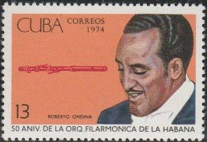 1974 Cuba Stamps Sc 1904 Havana Philharmonic Orchestra NEW