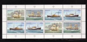 Iceland Sc745 ships stamp sheet of 8 NH