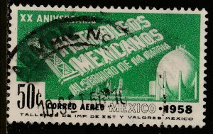 MEXICO C243, 50c 20th Anniv Nationalization of Oil Industry. Used. (1121)