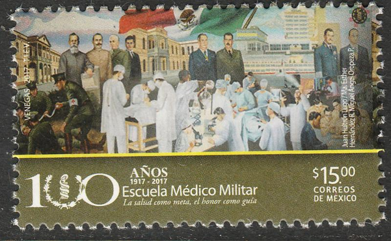 MEXICO 3055, Military Medical School, Centennial. MNH