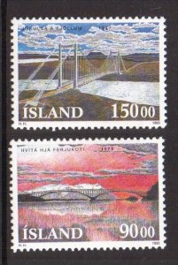 Iceland   #766-767  MNH  1993   bridges