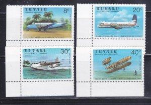 Tuvalu 142-145 Set MNH Planes (A)