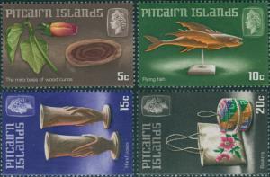 Pitcairn Islands 1968 SG88-91 Handicrafts set MNH