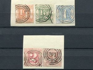 Thurn & Taxis  #8-12 used  F-VF - Lakeshore Philatelics