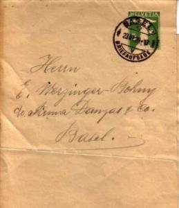 Switzerland, Wrapper, Postal Stationery