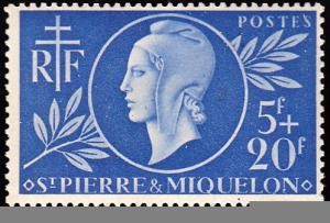 Saint Pierre & Miquelon Scott B13 Mint never hinged.