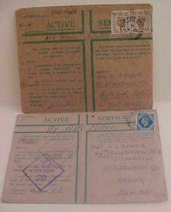 PALESTINE  GREEN FPO 154 JUNE 1942, FPO 515 OCT 1943 JERUSALEM