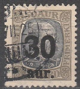 Iceland  #137 F-VF Used  CV $40.00 (D3851)