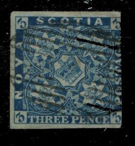 Nova Scotia #2 SG 3 U F 3d Pence Issue [N4461] CV=$150.00