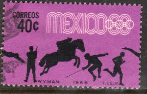 MEXICO 991, 40c Pentathlon 4th Pre-Olympic Set Used. F-VF. (743)