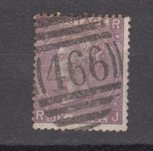 J27441 1867-80 great britain used #50 queen
