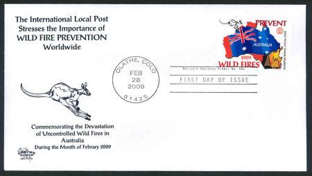 Australia Wildfires Commemorative - Intl. Local Post FDC