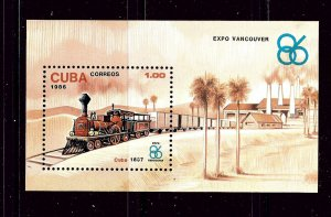 Cuba 2869 MNH 1986 Train S/S