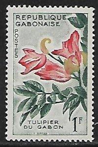 Gabon # 155 - Tulip Tree - unused**.....{GR44}