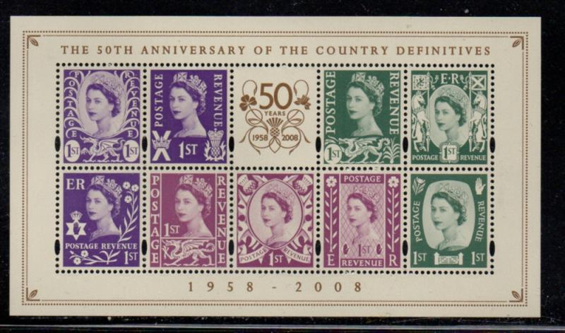 Great Britain Sc 2600 2008 Country Definitives stamp sheet mint NH