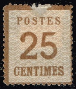 GERMANY STAMP ALSACE & LORRAINE  25C BROWN THIN MHR/OG