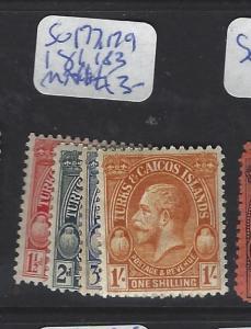 TURKS AND CAICOS (P0107B)  KGV  SG 177, 179, 181, 183  MNH