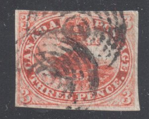 Canada Used #1 XF Beaver Imperforated C$1600.00 Nice LAID LINES