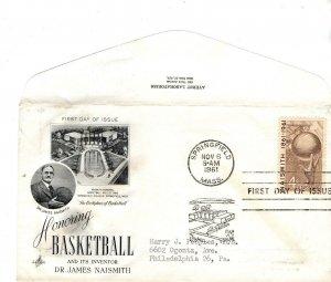 US FDC #1189 Basketball, ArtCraft/Ayerst Laboritories (0459)aa