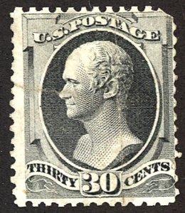 U.S. #165 Used Crease, Sealed tear