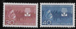 Finland 1960 World Refugee Year Sc 368-369 MH A2035