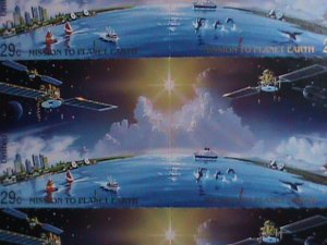 UNITED NATION STAMP: 1992  SC#610a  MASSION TO PLANET EARTH FULL SHEET MNH N.Y.