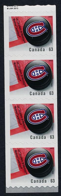 Canada 2665i end Strip MNH NHL Montreal Canadiens, Ice Hockey Puck