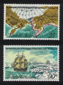 Norfolk Captain Cook Bicentenary Northern-most Voyages 2v SG#213-214 SC#235-236