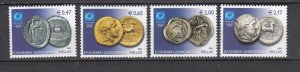 J26427  jlstamps 2004 greece set mnh #2113-6 coins, all checked
