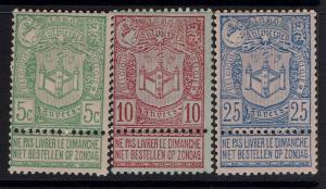 Belgium SC# 76-78, Mint Hinged - Lot 103016