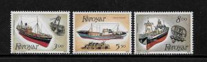 Faroe Is #158-60 MNH Set - Fishing Trawlers
