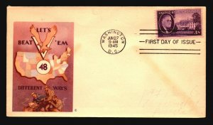 US SC# 932 FDC / Patriotic Cachet (II) - Z18535