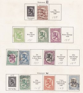 FINLAND^^^^1925-29  mint & used LIONS on ;page $$@ ta 1359finl9