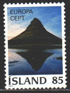 Iceland. 1977. 523 from the series. Mountains, geology, europe-sept. MNH.