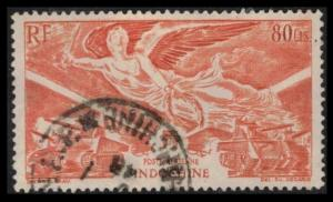 INDO-CHINA, 1946 80cts SCOTT #C19 AIR MAIL VICTORY ISSUE