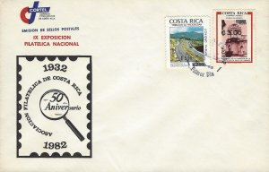 Costa Rica Church of Esparza,Colon Highway,SURCHARGED, Sc C883-C4 FDC 1982