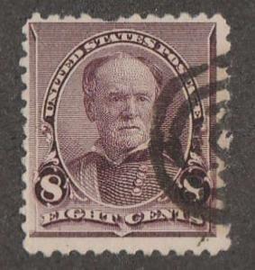U.S. Scott #225 Sherman Stamp - Used Single