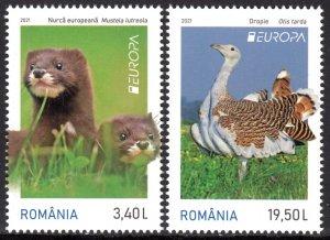 ROMANIA 2021 EUROPA CEPT BIRDS WILD ANIMALS OISEAUX VOGEL [#2106]