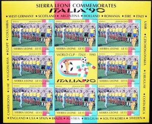 SIERRA LEONE SHEET ROMANIA FOOTBALL SOCCER WORLD CUP ITALY