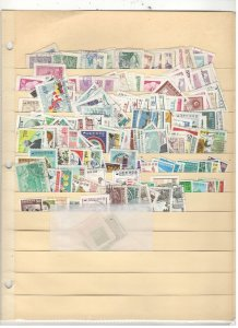 SOUTH KOEA COLLECTION ON STOCK SHEET,