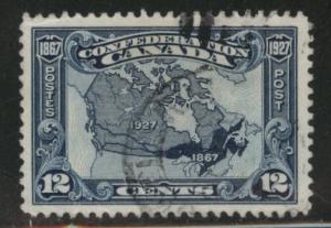 Canada Scott 145 Used  Map stamp 1927