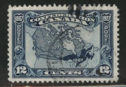 Canada Scott 145 Used  Map stamp 1927
