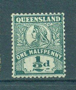 Queensland sc# 124 mh cat value $3.50