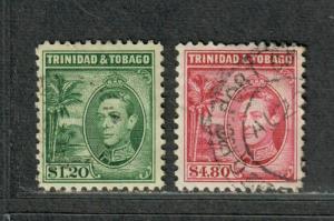 Trinidad+Tobago Sc#60+61 Used/VF, Partial Set, High Values, Cv. $62