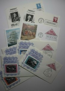 Pacific 97 World Philatelic Exhibit Poster stamp FDC Set Sc#3130-3131, 3139-3140