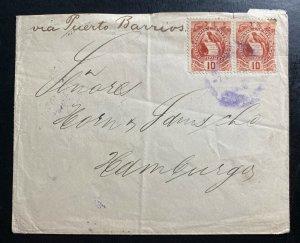 1898 Guatemala Cover to Hamburg Germany Via Puerto Barrios