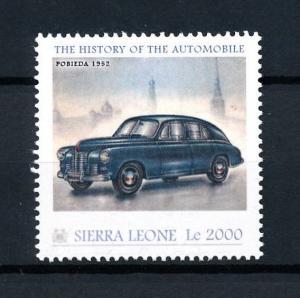 [92805] Sierra Leone 2010 Classic Cars Pobieda 1952 Type MB  MNH