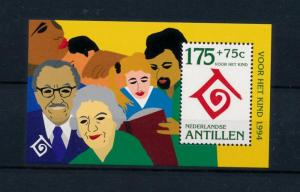 [NA1077] Antilles Antillen 1994 United Nations Family Children Souvenir Sh. MNH