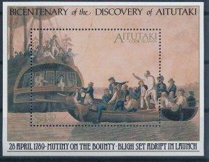 [I322] Aitutaki 1989 Boats good sheet very fine MNH