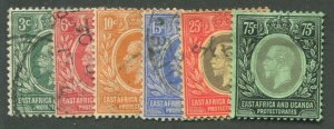 EAST AFRICA & UGANDA PROTECTORATES #41//48 USED F/VF